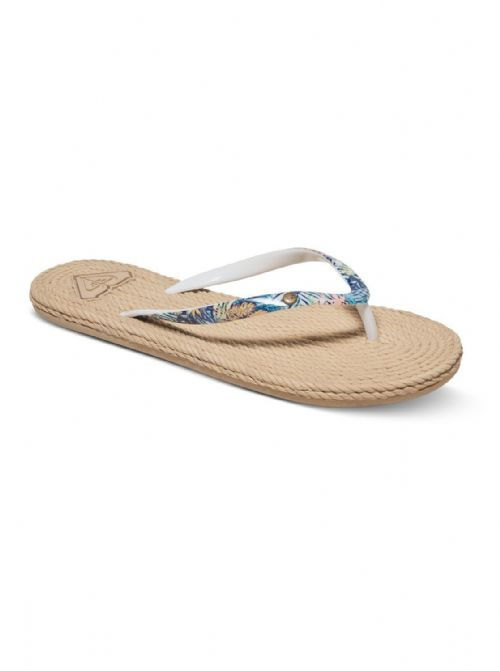 ROXY WOMENS FLIP FLOPS.NEW SOUTH BEACH ESPADRILLE STYLE THONG SANDALS 7S/454/RBQ